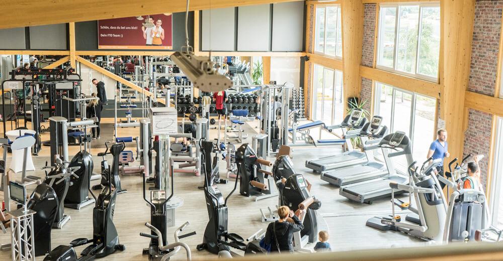 großzügiger Fitness Raum im neuen Fitness-Treff Orscholz Fitness Studio Mettlach Remich