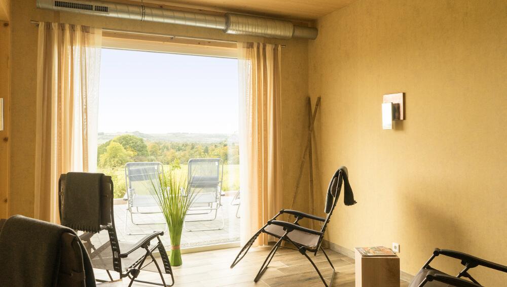 Sauna und Relax-Area im neuen Fitness-Treff Orscholz Studio Mettlach Remich