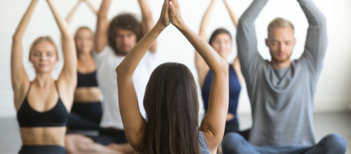 Der Yoga Kurs dienstags